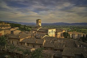 Roofs Of Assisi by CitizenFresh