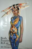 Goldfish body paint by Bodypaintingbycatdot