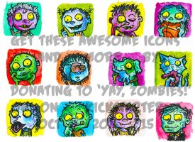 Zombie Icons by jbrenthill