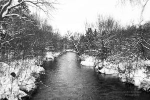 Winter River by AEisnor
