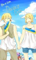 Kagamine Twins: Deathly Duo by dou-to