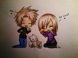 Our love for cute cats :D by freakydayo