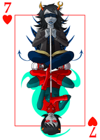 homestuck: seven of hearts by blackstuffedcat