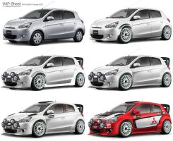 Mitsubishi Mirage WRC WIP Sheet by idhuy