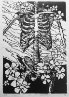 Skeleton Print by bamm9