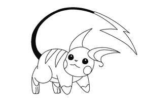 "Raichu lineart 1 ""request"" by michy123"