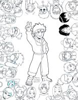 In Progress - Naruto Group by agra19