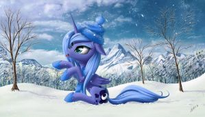 Princess Luna ebashit snow by ZiG-WORD
