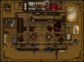 Hard Knocks Saloon and Brothel 1st Floor V3 by Sadizzm