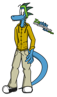 [Bday Gift] Zephix the blue lizard by McTaylis