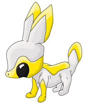 Electric Rabbit Pokemon by Exiled-Shadow