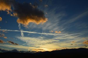 Fall sunset of October in Massif Central in France by A1Z2E3R