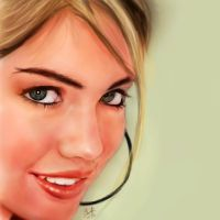 iPad finger painting of Kate Upton by chaseroflight