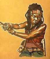 Michonne by Pieohpah69