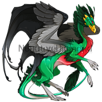 Flight Rising Skin- Quetzal Skydancer Female by NegativeDiamond