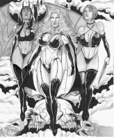 Lady Death, Purgatory, Chasity by martheus