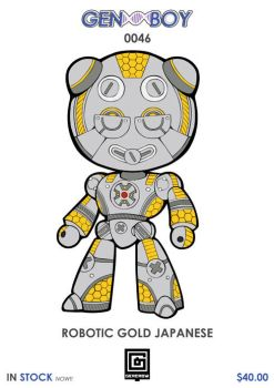 GB0046 - ROBOTIC GOLD JAPANESE by GERCROW