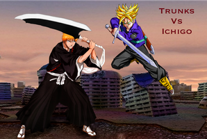 Trunks vs Ichigo by Tony-Antwonio