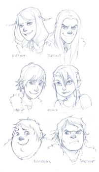 HTTYD: Viking Kids by lexxercise