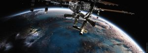 ISS in orbit by ralfmaeder