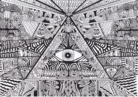 PYRAMID OF EYES by Astral-Haze
