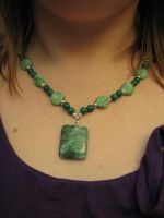 Green Necklace by jneia