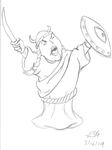 Opera Singer (pencils) by PeterSFay