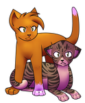 Squirrelflight and Leafpool by blazinqmoon