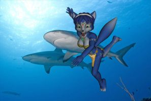 KRYSTAL CHASED BY SHARKS by xXTREMEXx