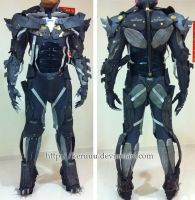Metal Gear Rising Raiden Suit Test by keruuu