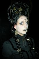 Stock - black and gold steampunk vampire 2 by S-T-A-R-gazer