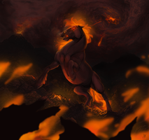 Fire horse by BlackBy
