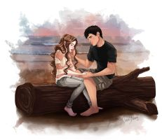 Renesmee and Jacob by Dralamy