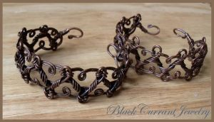 Copper Bracelets by blackcurrantjewelry