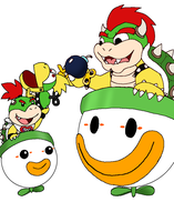 Bowser and Junior - Clowning Around by Rotommowtom