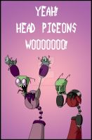 YEAH HEAD PIGEONS WOO by OperaPhantomess