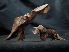 Origami Dinosaurs by Cissell