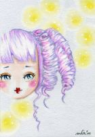 A Face Doll With A Yellow Bubble by Lipsies