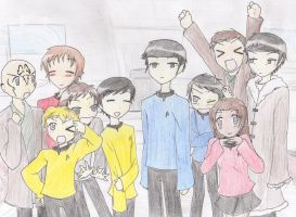 Lucky Star Trek 2 by PerseusXAndromeda