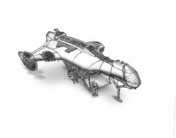 Concept Sketch for a dropship by gwhite206