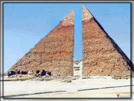Pyramid in two pieces by ahmedyousri