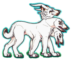 Arctic Three-Headed Dog Doodle by The-Draiger