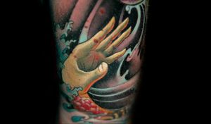 hand to help by redliontattoo