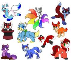 Foxes! All The Foxes! (and a pony) by CutePencilCase