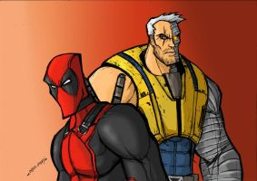 CABLE N DEADPOOL! by Sabrerine911