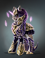 MLP Knight pony auction closed by ElkaArt
