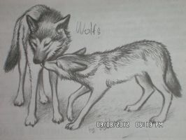 Wolf ''kiss'' by Lali-the-Bunny