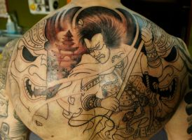 Japanese backpiece round1 by strangeris