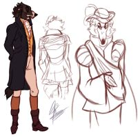 Period Dress Up Doodles by alridpath