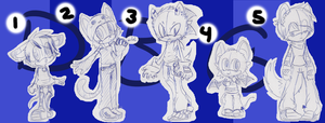 Sonic Adoptables 131CLOSED by DarkBlueGlass
